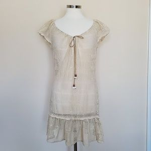 Lucky Brand Swim Cover Up Beach Pool Ivory Lace